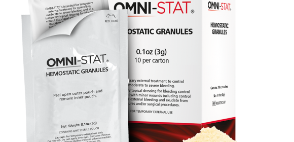Hemostatic Granules with Exterior Sterile Pouch