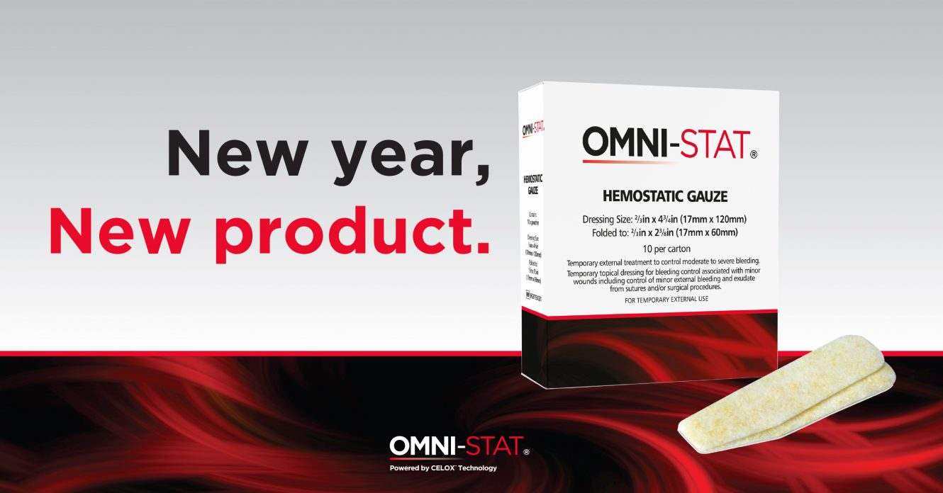 Omni-stat Medical Inc Launches NEW Hemostatic Gauze